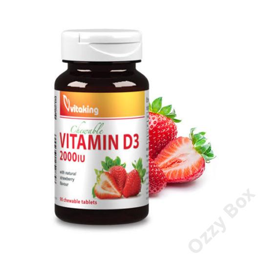 Vitaking D3-vitamin 2000NE Rágótabletta  90 db