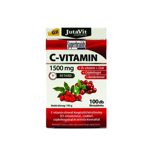 Jutavit C-1500 mg Retard + D3 + Cink 100 Tabletta