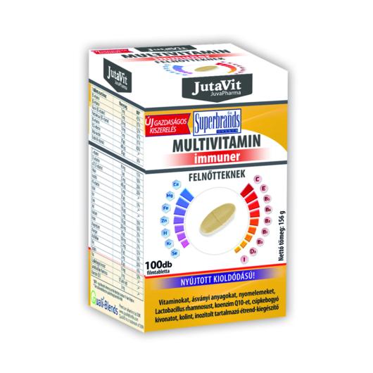 Jutavit Multivitamin Immuner Felnőtteknek 100 Tabletta