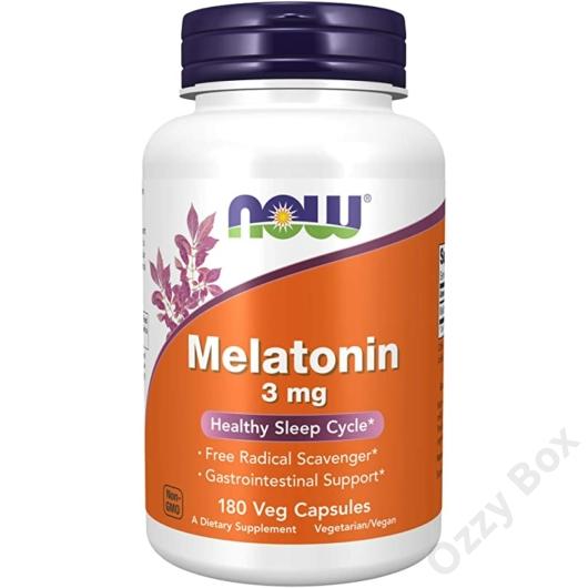 Now Foods Melatonin 3 mg 180 kapszula