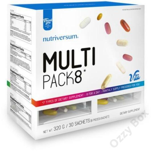 Nutriversum Multi Pack 8 Multivitamin 30 Csomag