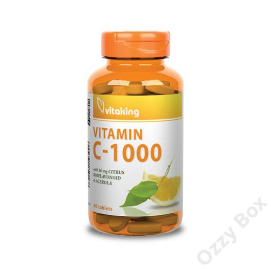 Vitaking C-Vitamin 1000 mg + Bioflavonoid 90 Tabletta