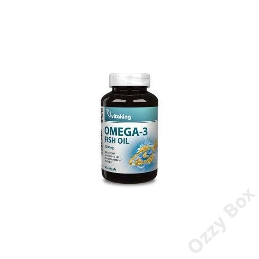 Vitaking Omega-3 Fish Oil 1200 mg Halolaj Kapszula