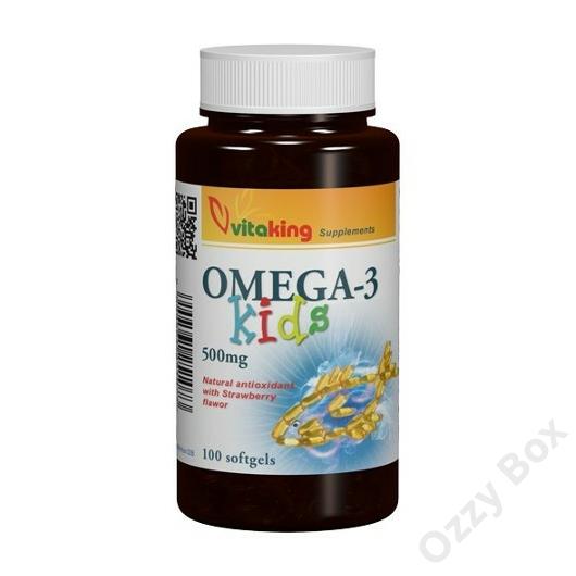 Vitaking Omega-3 Kids Halolaj Kapszula