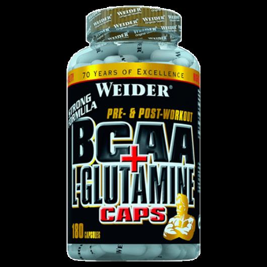Weider BCAA + L-Glutamine 180 kapszula Aminosav